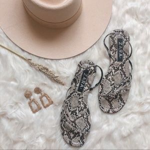 ZARA Snakeskin Strappy Sandals